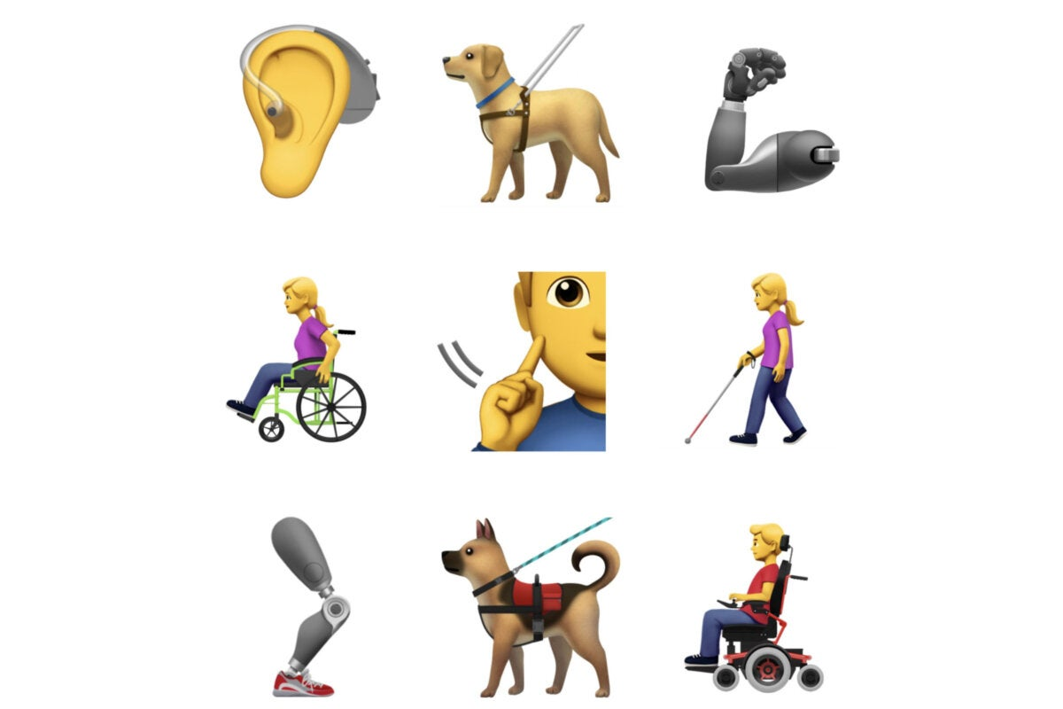 Apple proposes nine new accessibility emojis