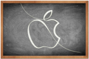 apple logo chalkboard