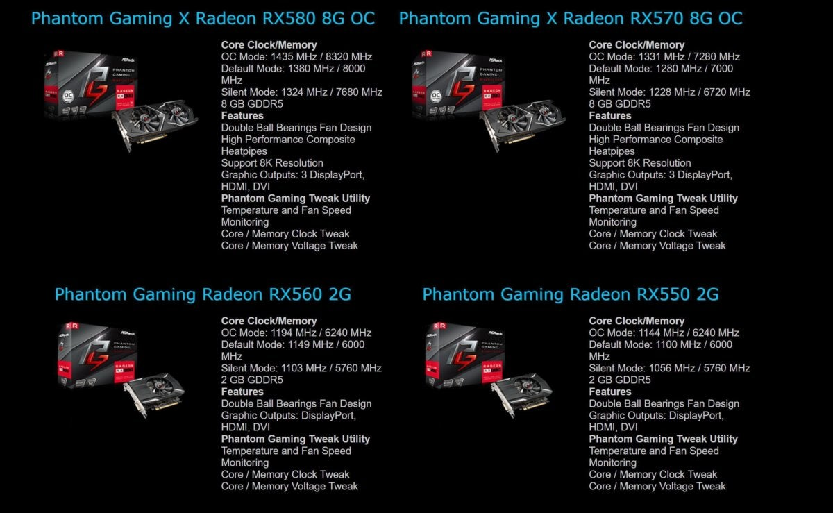 asrock phantom gaming lineup