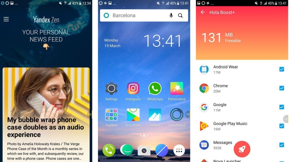 best android launcher hola