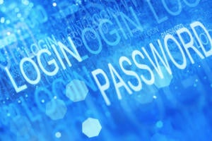 blue abstract password and login access security internet