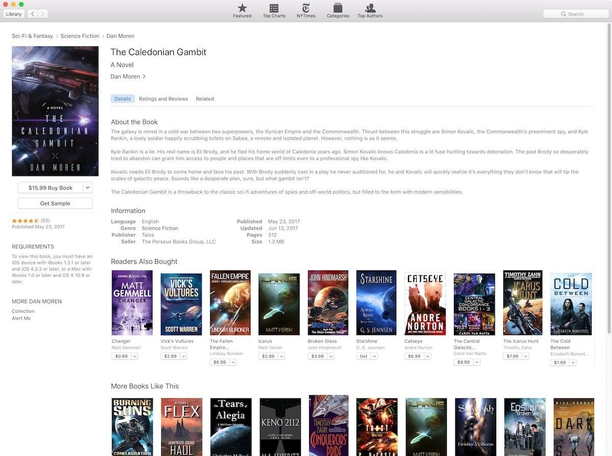 caldonian gambit ibooks store