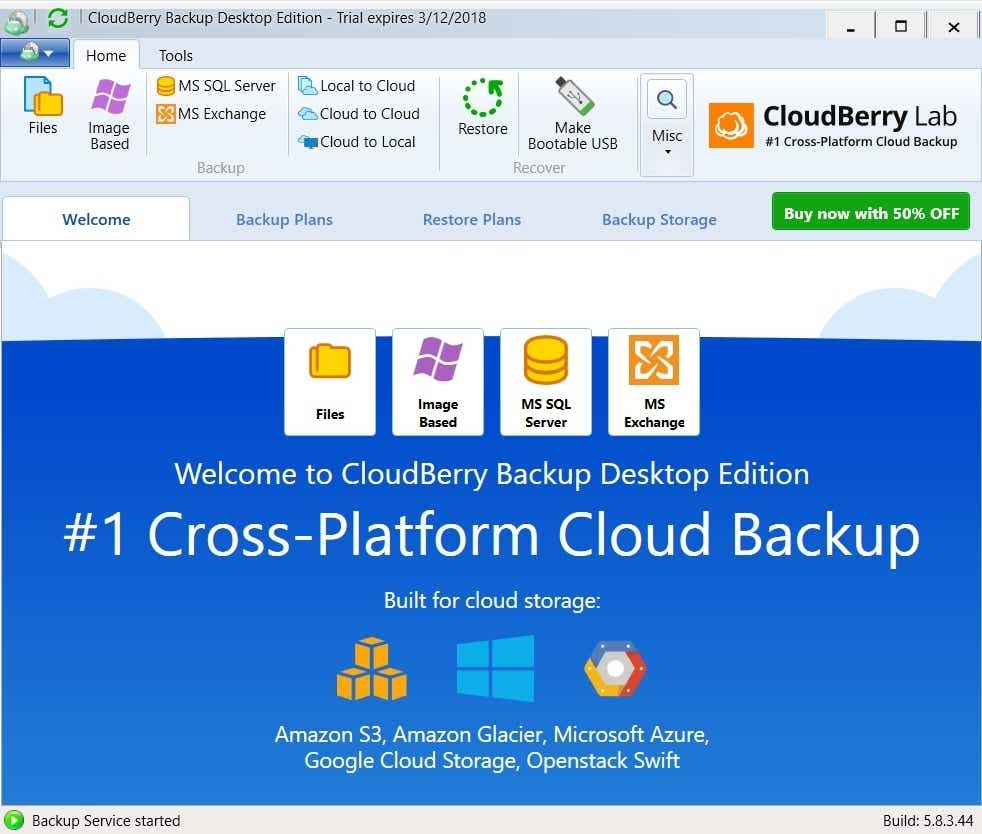 CloudBerry Backup Desktop