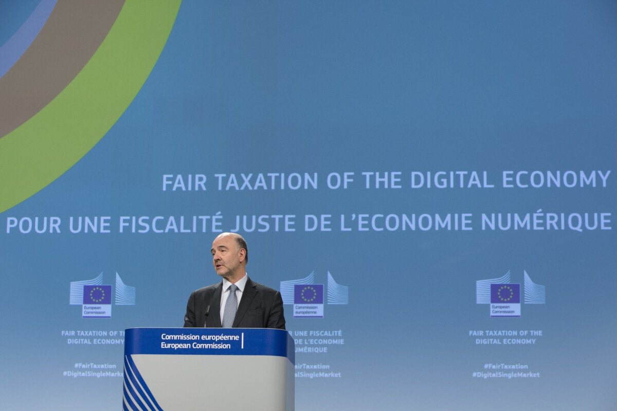commissioner pierre moscovici digital tax