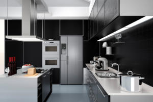 contemporary kitchen smart appliances iot smart home