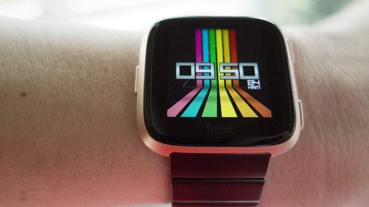 fitbit versa clock faces