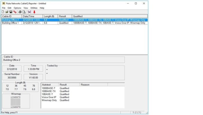 flukenetworks pc software