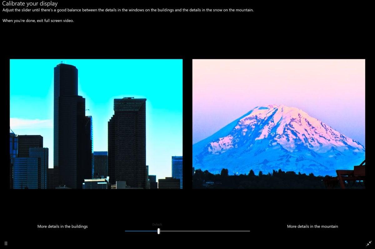 Microsoft Windows 10 Spring Creators Update hdr adjustment