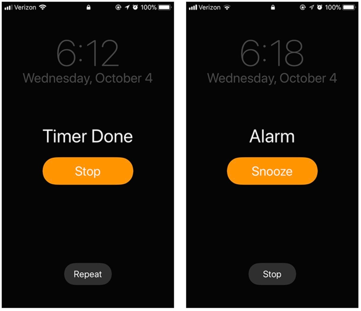 ios timers alarms