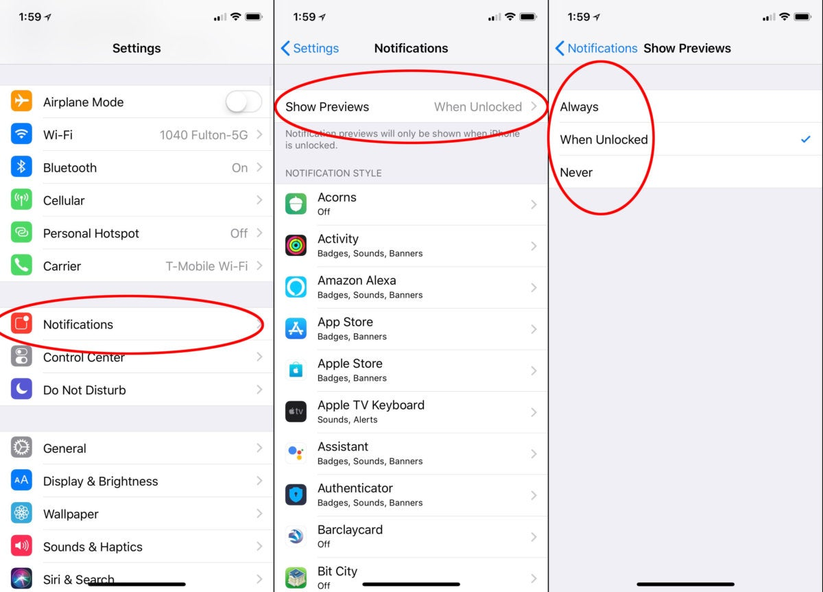 ios11 hide notifications all apps