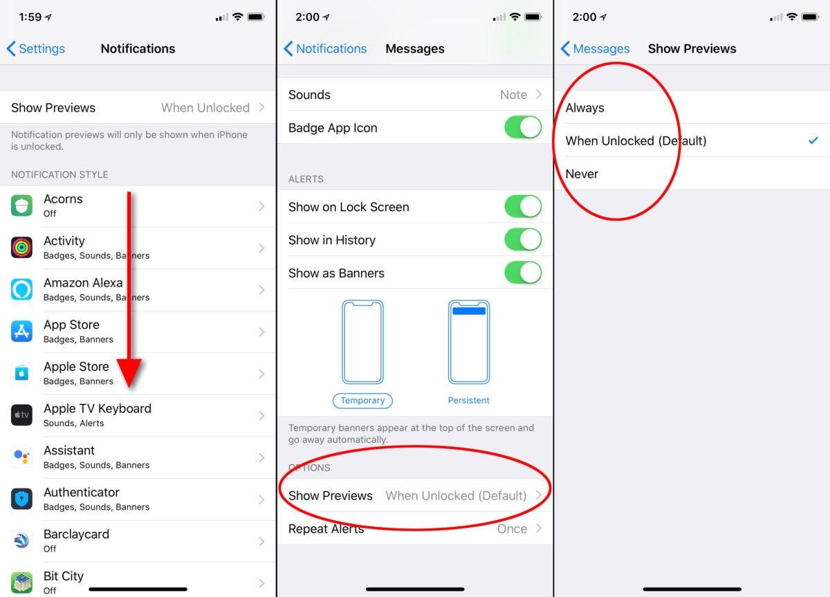 ios11 hide notifications one app