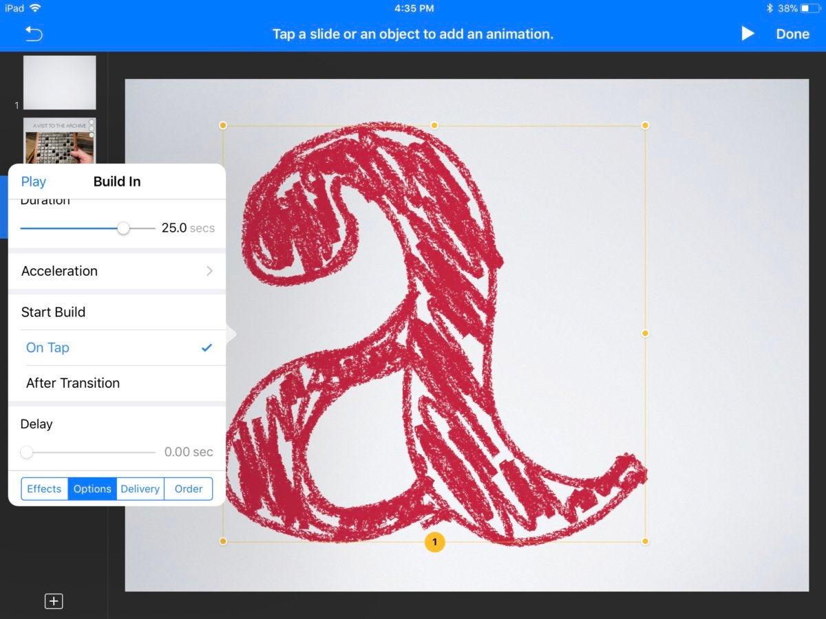 Drawing Lines In Keynote : Keynote for ios review macworld