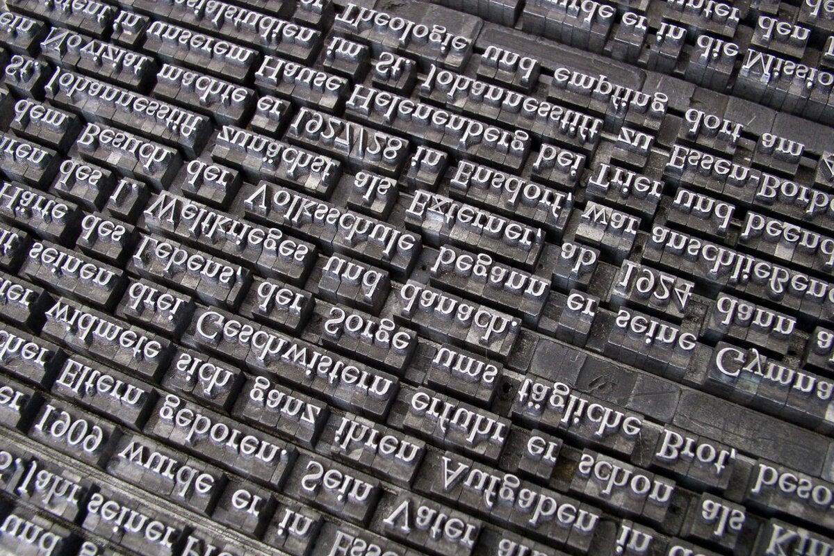 language type words