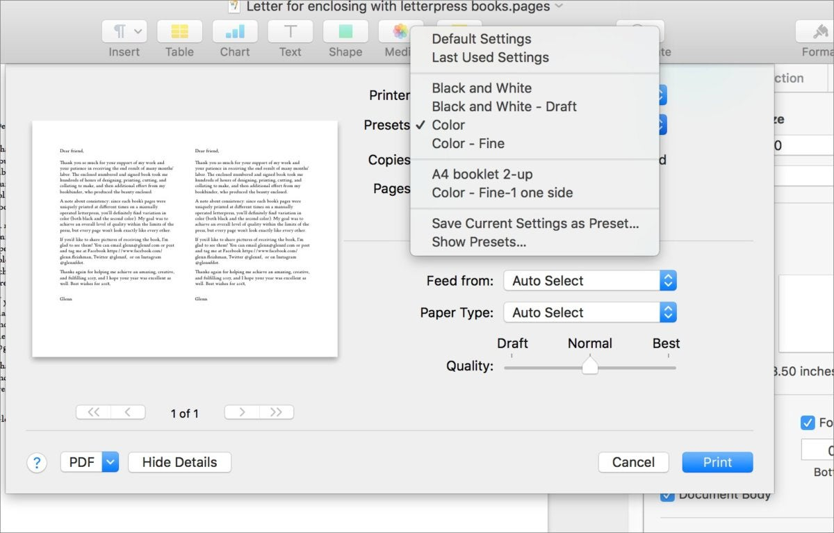 How to use printer presets in macOS | Macworld