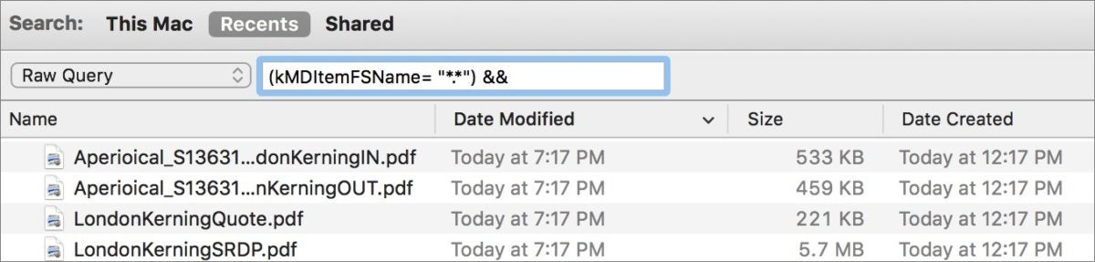 mac911 raw query finder