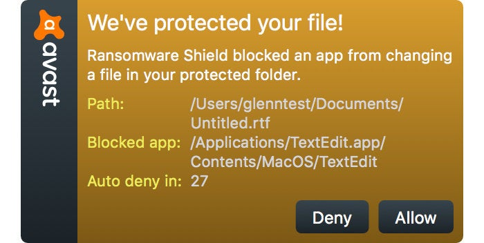 macav avast spotted ransomware attempt