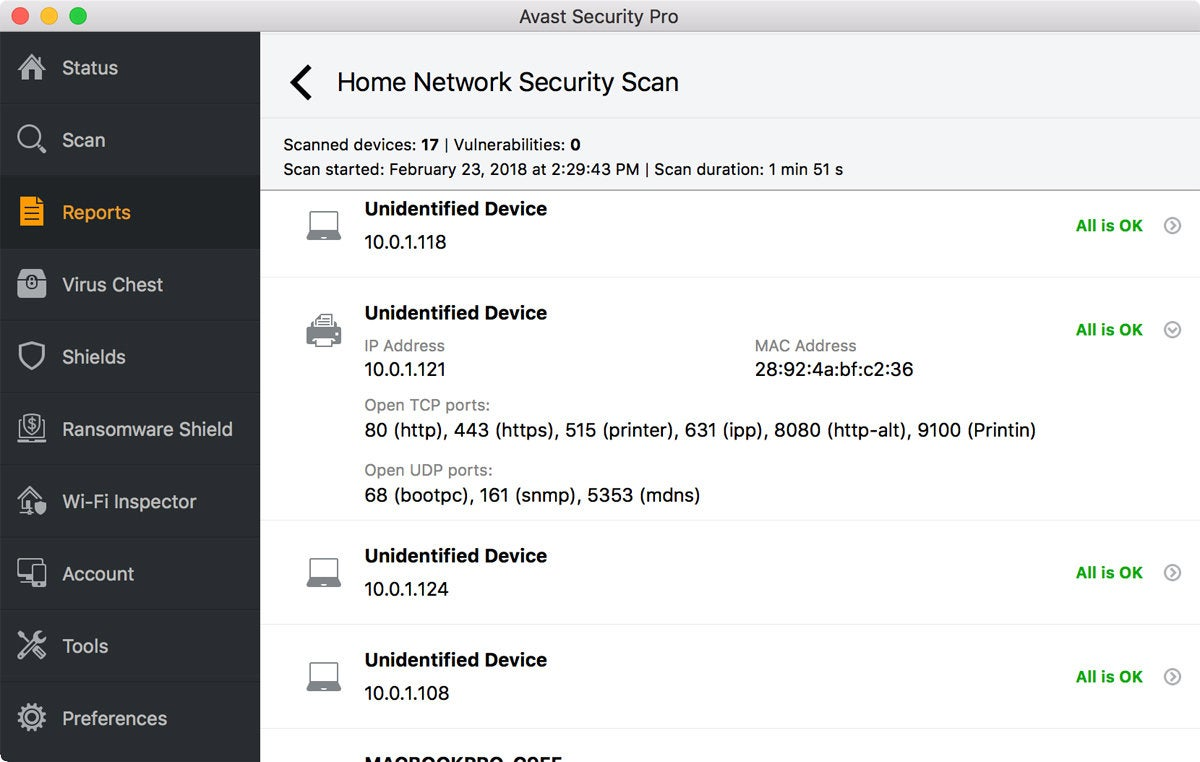 avast smart scan stuck at network threats