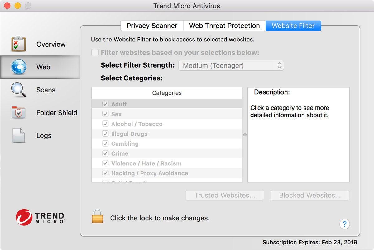 macav trend micro website filter