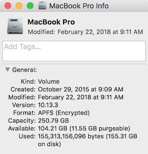 macos get info disk space