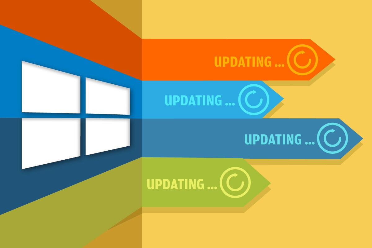 Microsoft Windows update arrows / progress bars