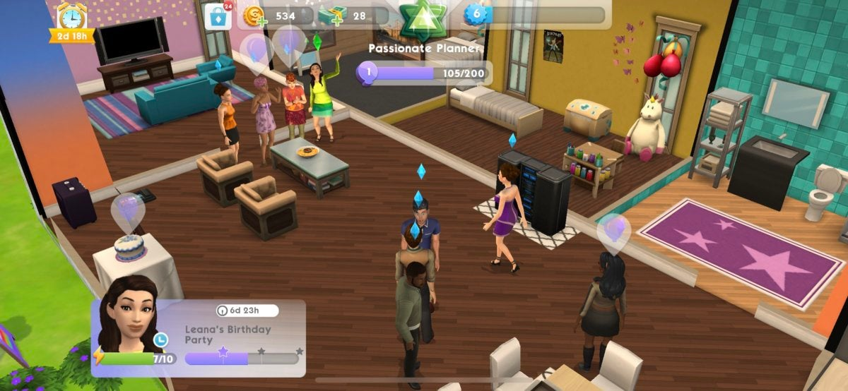 sims mobile party