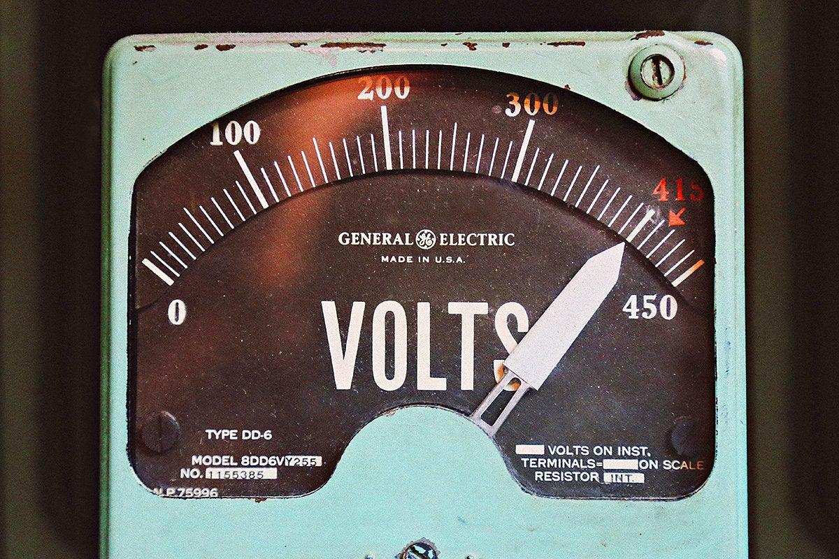 vintage voltmeter gauge