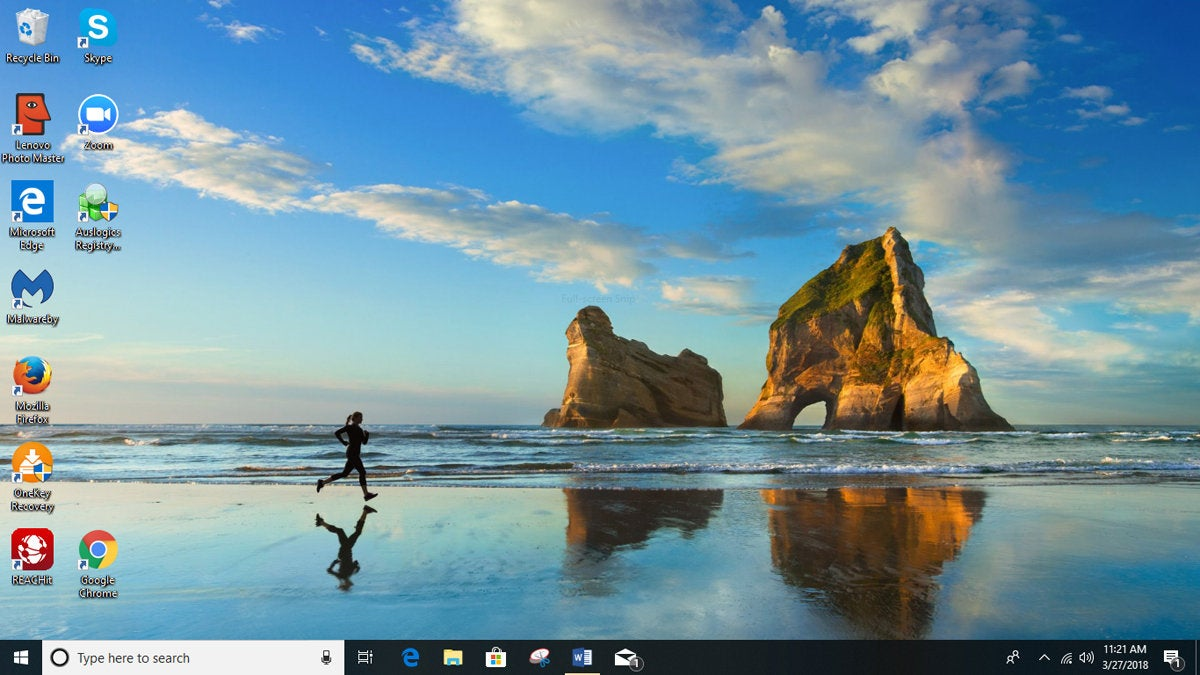 Windows 10 version 1803 desktop