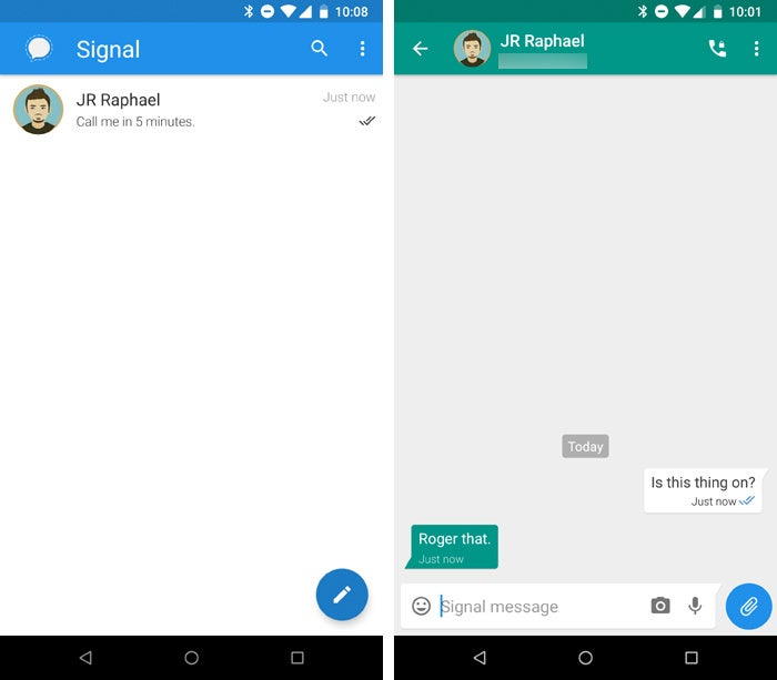 Android privacy security apps - Signal