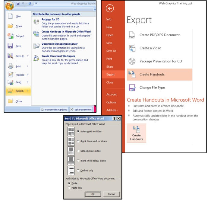 05 create handouts in microsoft word