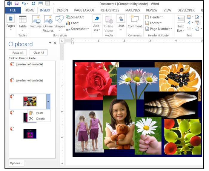 06 paste link or paste powerpoint slides into word