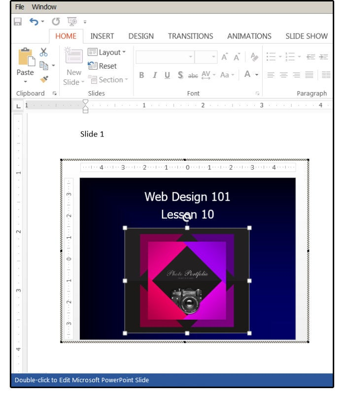 07 double click to edit microsoft powerpoint slide