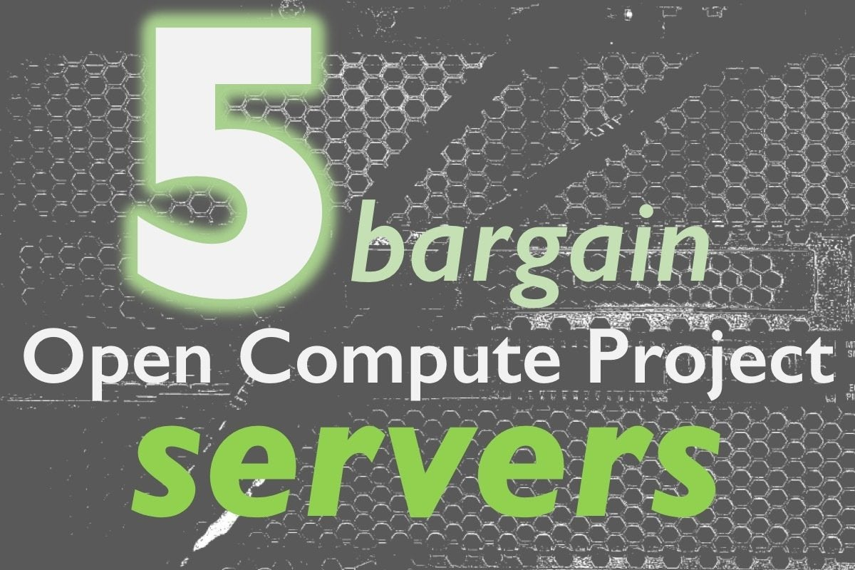 Five servers from ocp