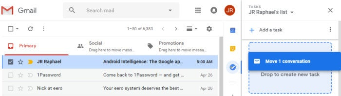 new Gmail - Tasks