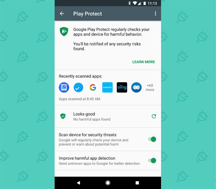 Android Security Settings: Play Protect
