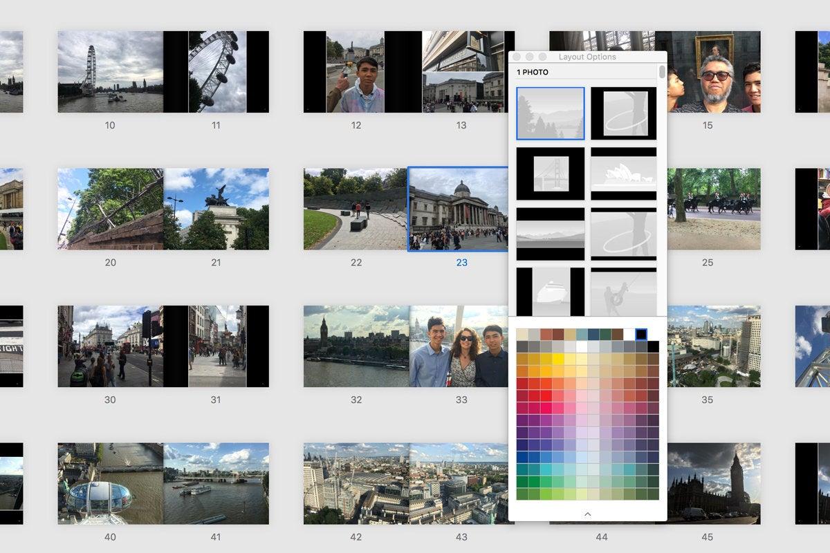 apple photo book laytout options