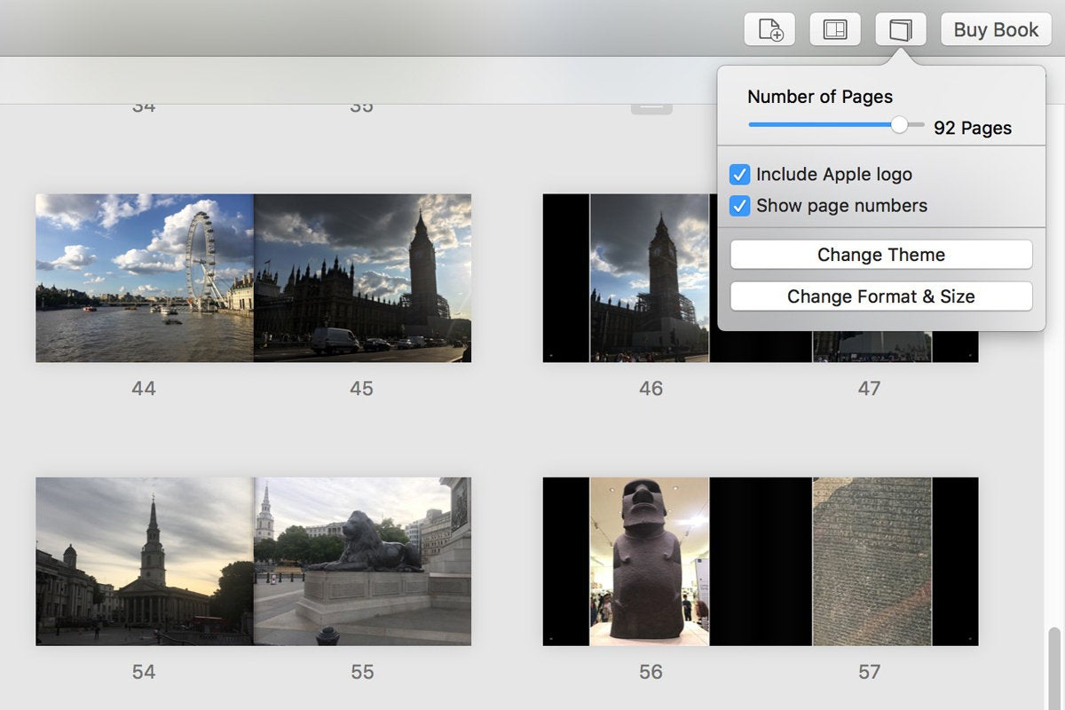 apple photo book number of pages