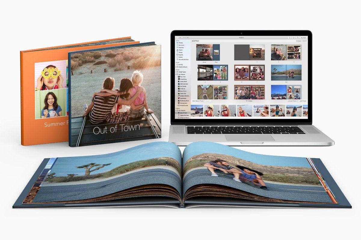 apple photo books stock
