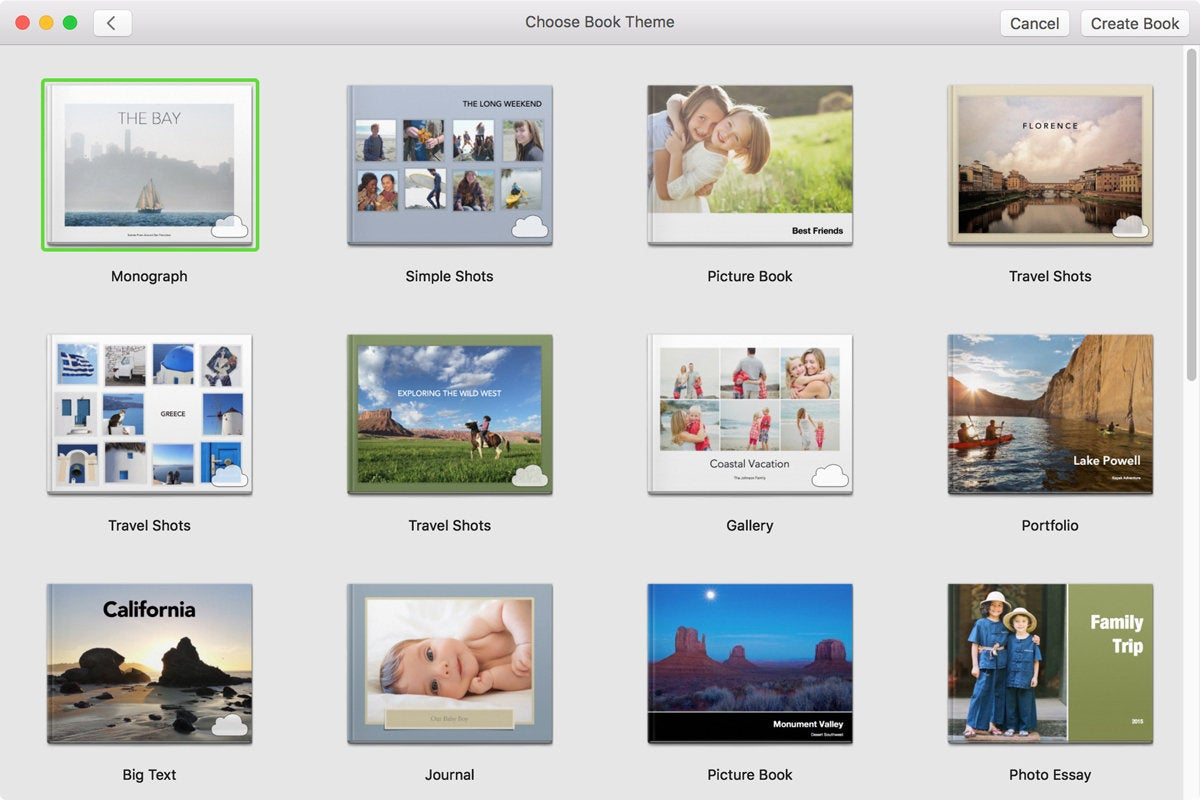 apple photo books theme