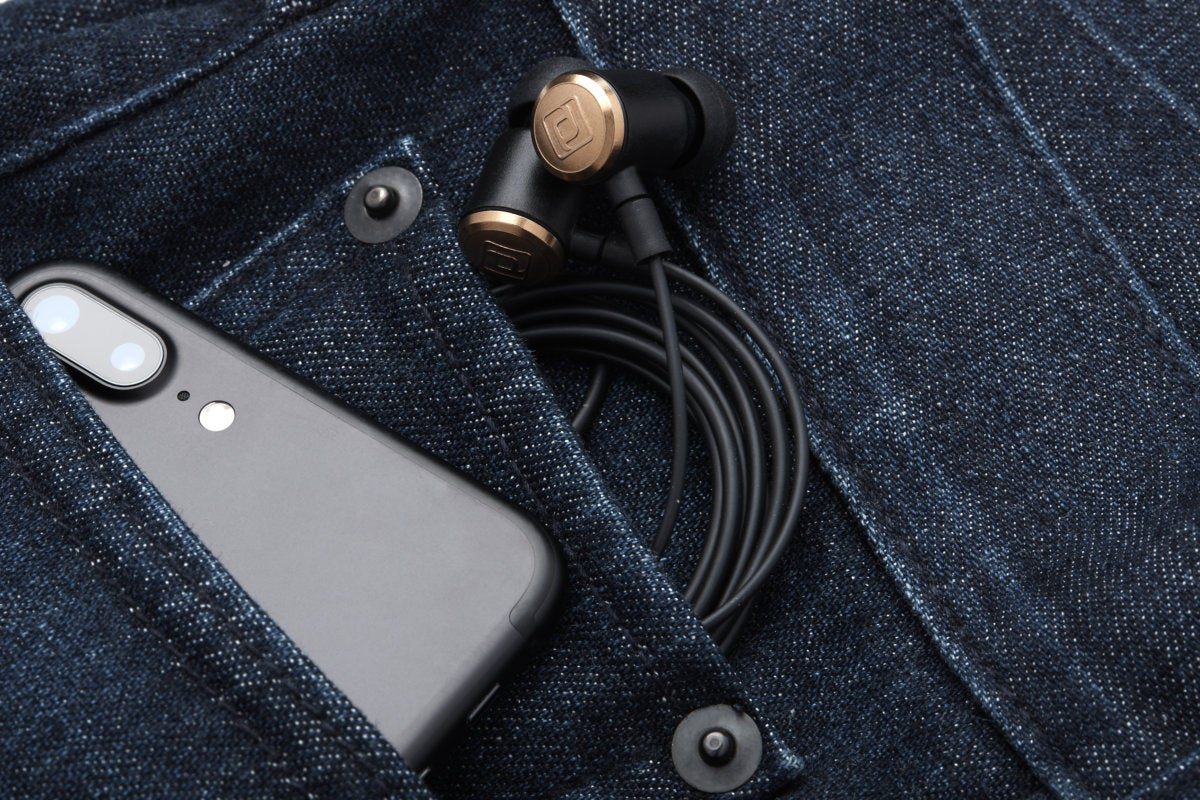 The Periodic Audio Be's thin, flexible cable, makes it easy to tuck the headphones into even tight p