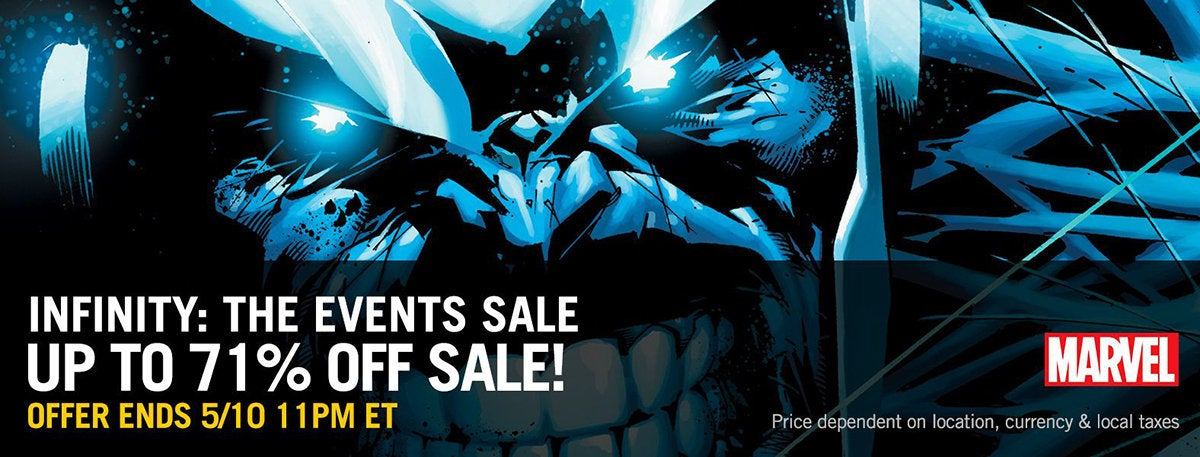 comixology infinity war sale