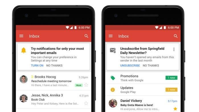 gmail app notifications