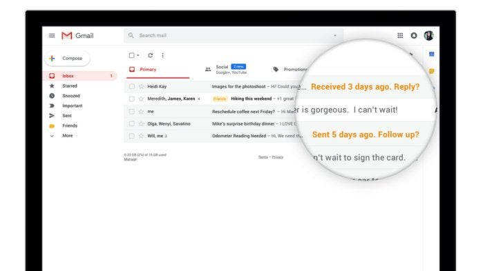 Google Gmail Nudge