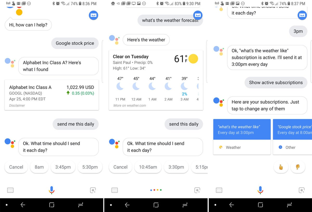 google assistant send daily