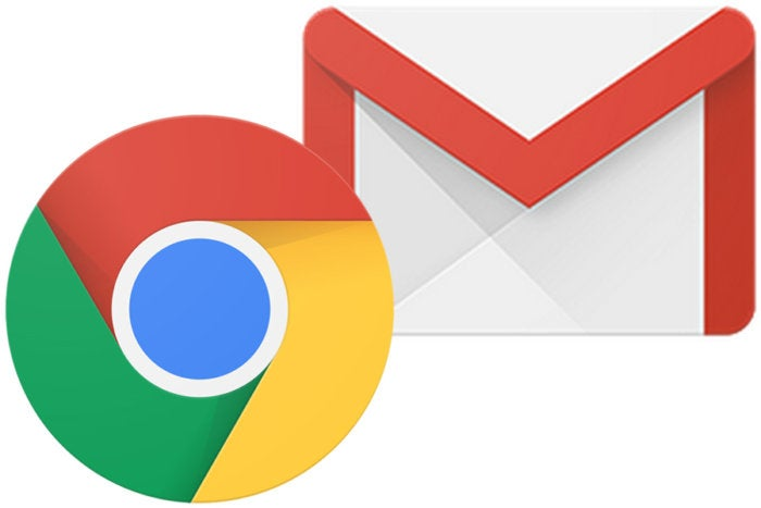 Google Chrome and Gmail logos
