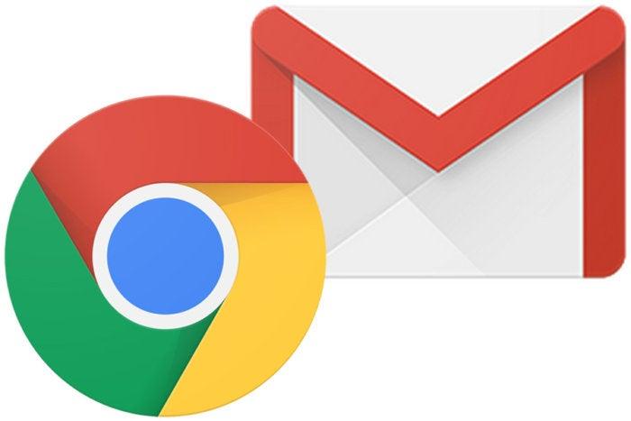 Google Chrome and Gmail logos