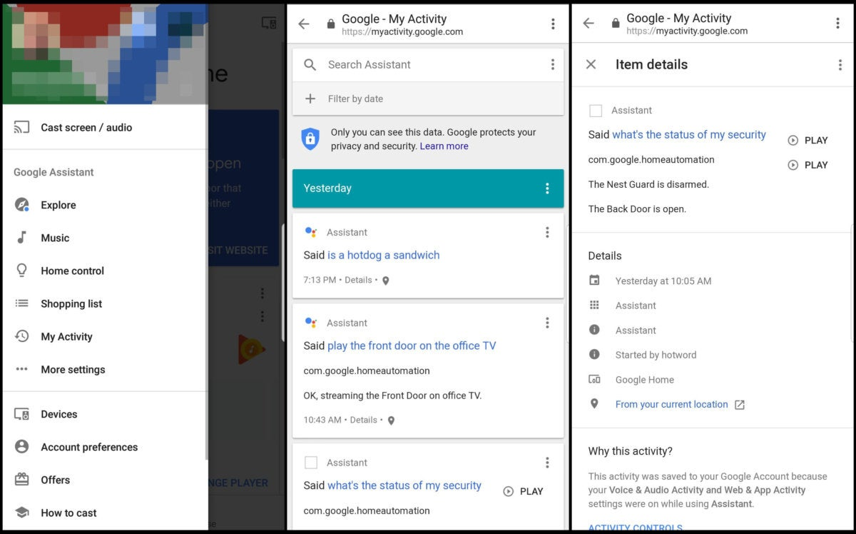 How to check your Google Assistant history | TechHive