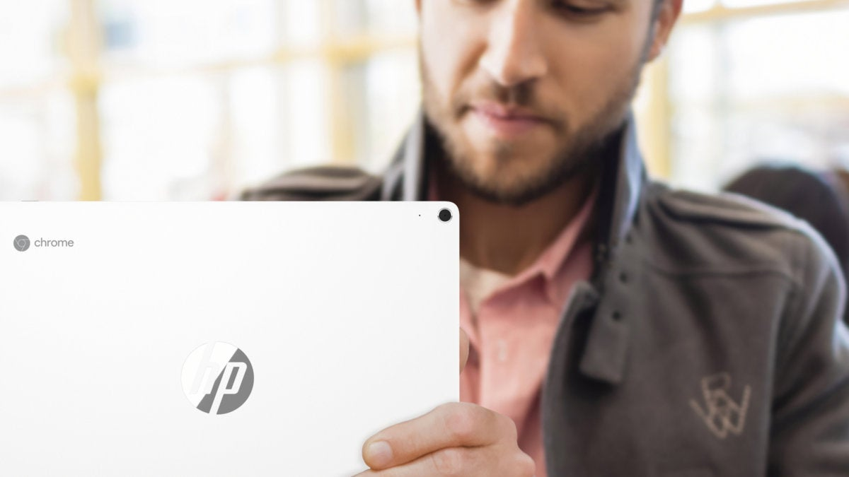 hp chromebook x2 lifestyle rear