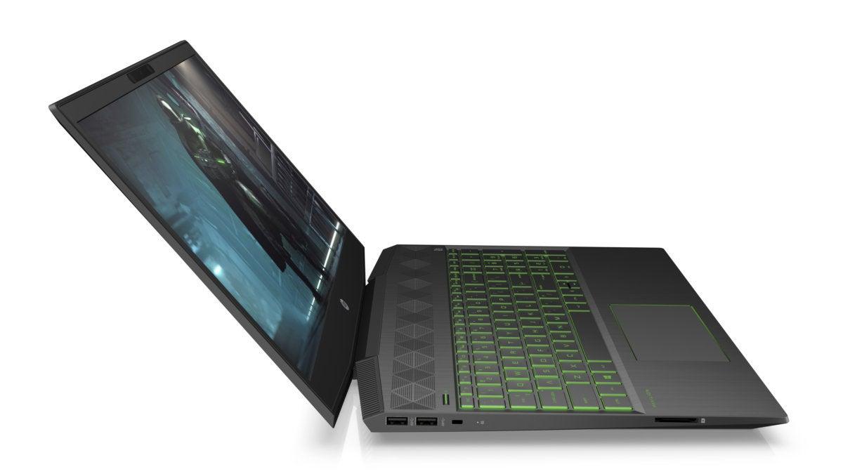 hp pavilion gaming laptop hero4 rightopen acidgreen