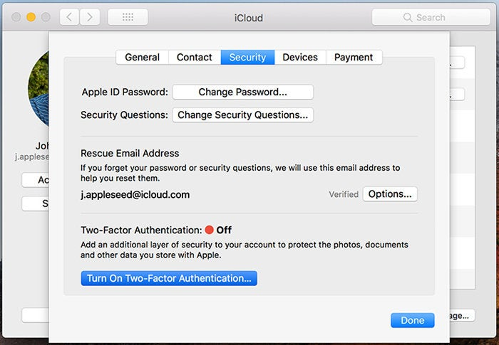 How to recover an iCloud account when a factor for two