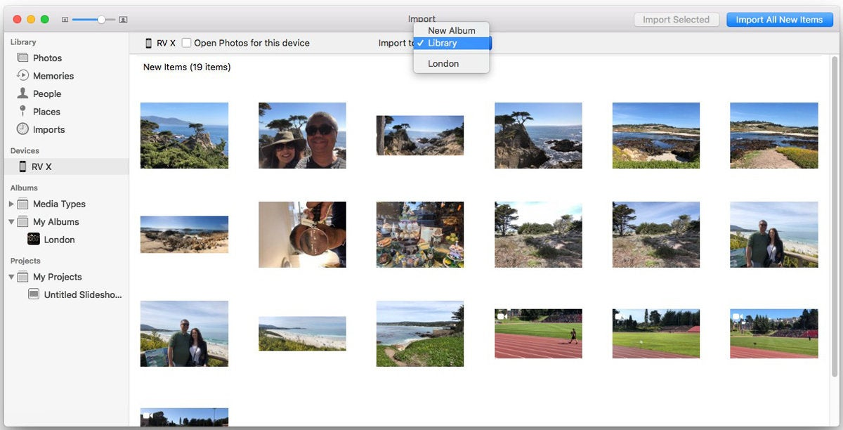 import iphone photos mac